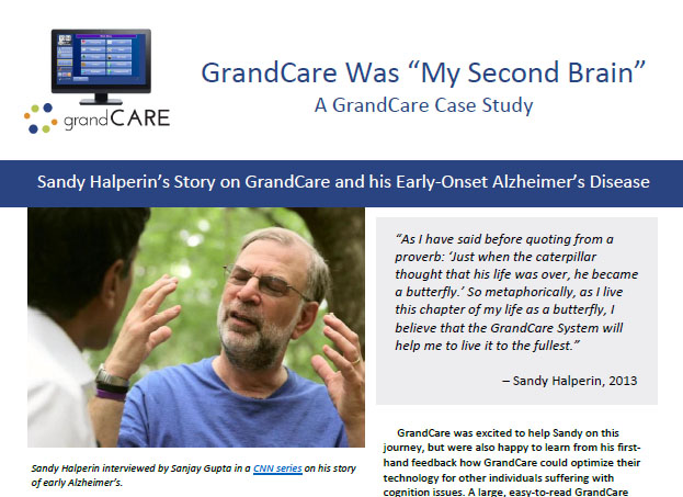 Sandy Halperin's story on GrandCare and his Early-Onset Alzheimer's Disease